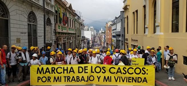 Así se registró la Marcha de los Cascos