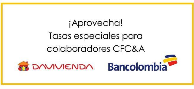 Bancolombia y Davivienda ofrecen tasas especiales para colaboradores CFC