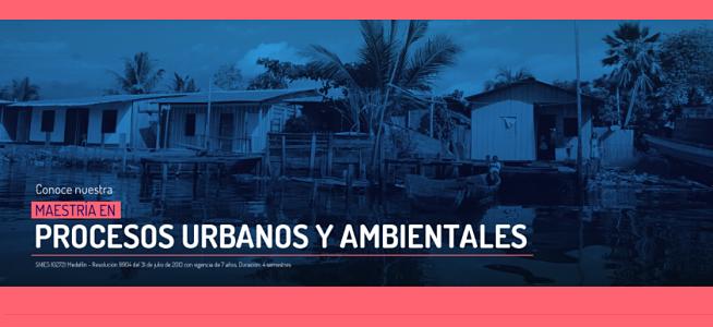 Invitación a charla virtual sobre procesos urbanos y ambientales