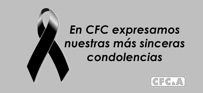 CFC expresa sus condolencias a Ángela Natalia Betancur