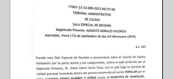 Tribunal niega recurso de súplica a opositores de TierraViva