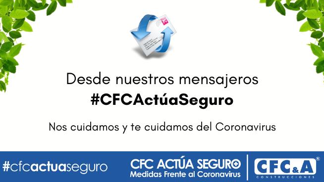 #CFCActúaSeguro mensajeros: Conoce las medidas