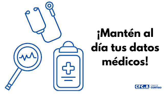 Actualiza tus datos médicos