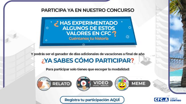 Inscríbete al Concurso de Valores CFC