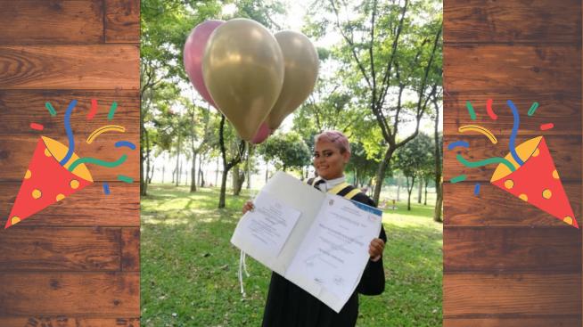 Paula Alejandra Noguera se graduó como ingeniera ambiental