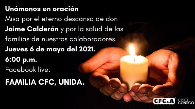Familia CFC, unámonos hoy en oración – Misa 6:00 p.m.