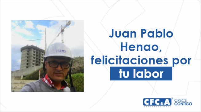 Reconocemos la labor de Juan Pablo Henao