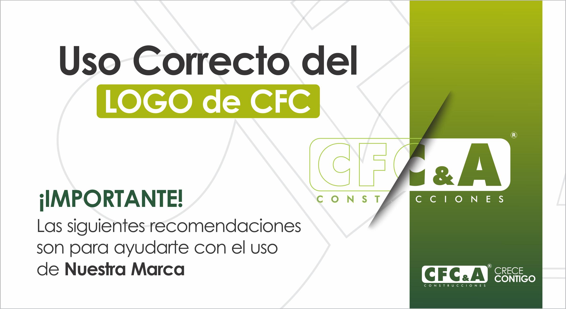 ¿Cómo hacer un uso correcto de nuestro logo CFC?