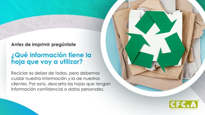 Cuidemos la información de nuestro papel para reciclar
